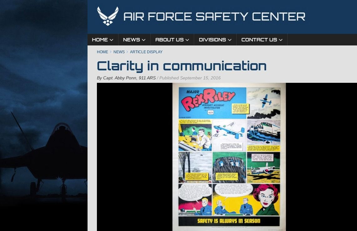 Illustration: Clarity in Communication - US Air Force article (Cybersecurity Writers Blog)